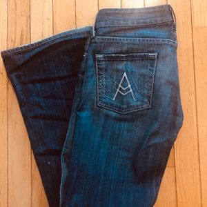 7 For All Mankind A Pocket Flare Jeans Size 25
